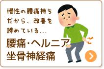 腰痛・ヘルニア・坐骨神経痛